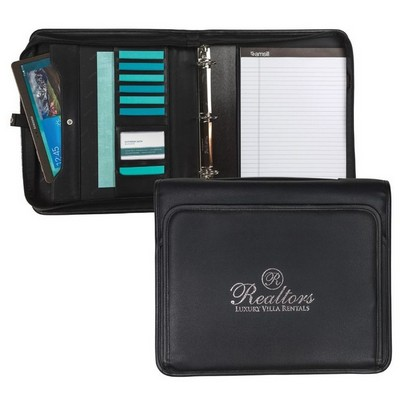 Professional™ Zipper Binder Padfolio w/Dual Writing Pads and Handle