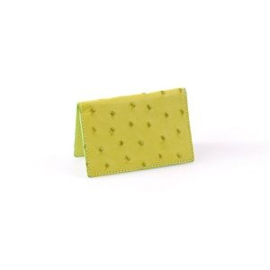 Ostrich Leather Business Card Case - Summer Lime