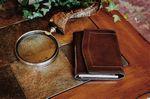 Custom Small Size Padfolio - Made in Italy - Vachetta Walnut