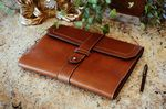 Custom Vachetta Large Leather Padfolio - Terra