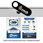 Custom Webcam Cover Swivel Plastic + Custom Packaging