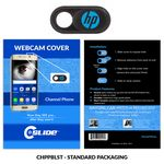 Custom Webcam Cover Channel Phone Black Plastic + Standard Packaging
