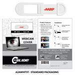 Custom Webcam Cover A2A - White with Standard Packaging