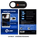 Custom Webcam Cover Channel Tablet Plastic + Standard Packaging