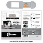 Custom Webcam Cover 3.0 - Silver with Standard Packaging