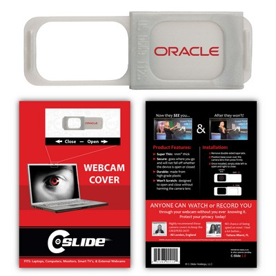 C-SLIDE Webcam Cover 1.0 - Silver with Standard Packaging