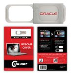 Custom C-SLIDE Webcam Cover 1.0 - Silver with Standard Packaging