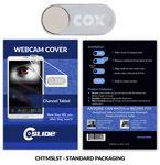 Custom Webcam Cover Channel Tablet Silver Metal + Standard Packaging