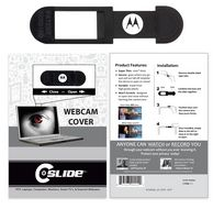 Webcam Cover 3.0 - Black with Standard Packaging