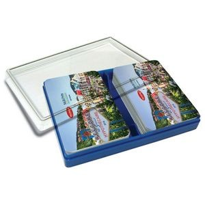 Rigid Plastic Double card deck box
