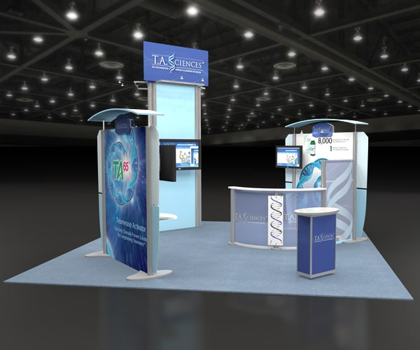 custom- booth- trade show- custom trade show booth- T.A. Sciences- eXpobranders- local- VA