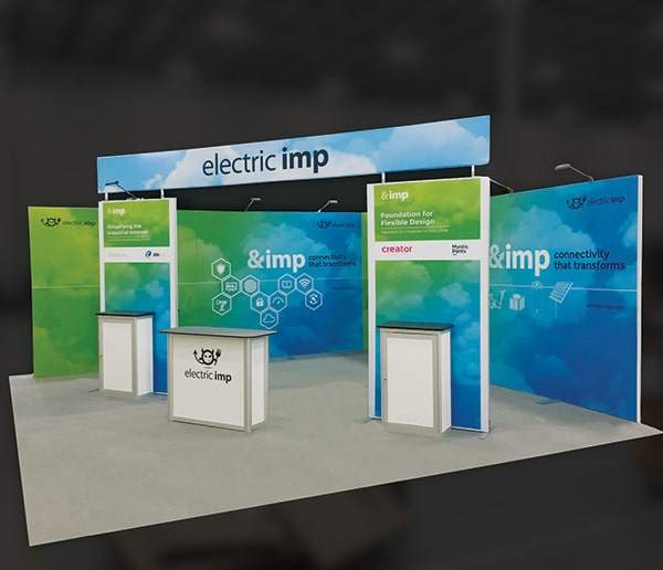 custom- booth- trade show- custom trade show booth- electric imp- eXpobranders- local- VA