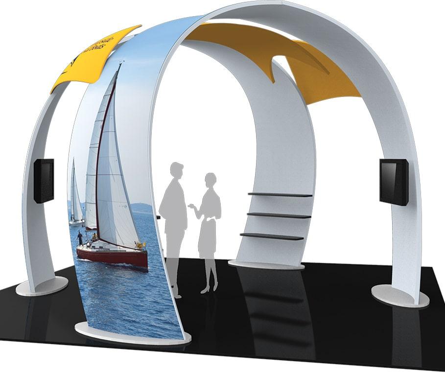 20x20 Truss Island Display Booth