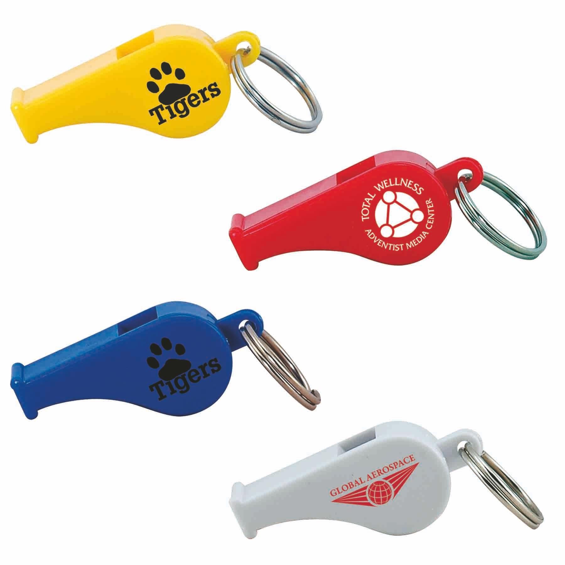 custom printed whistle keytag