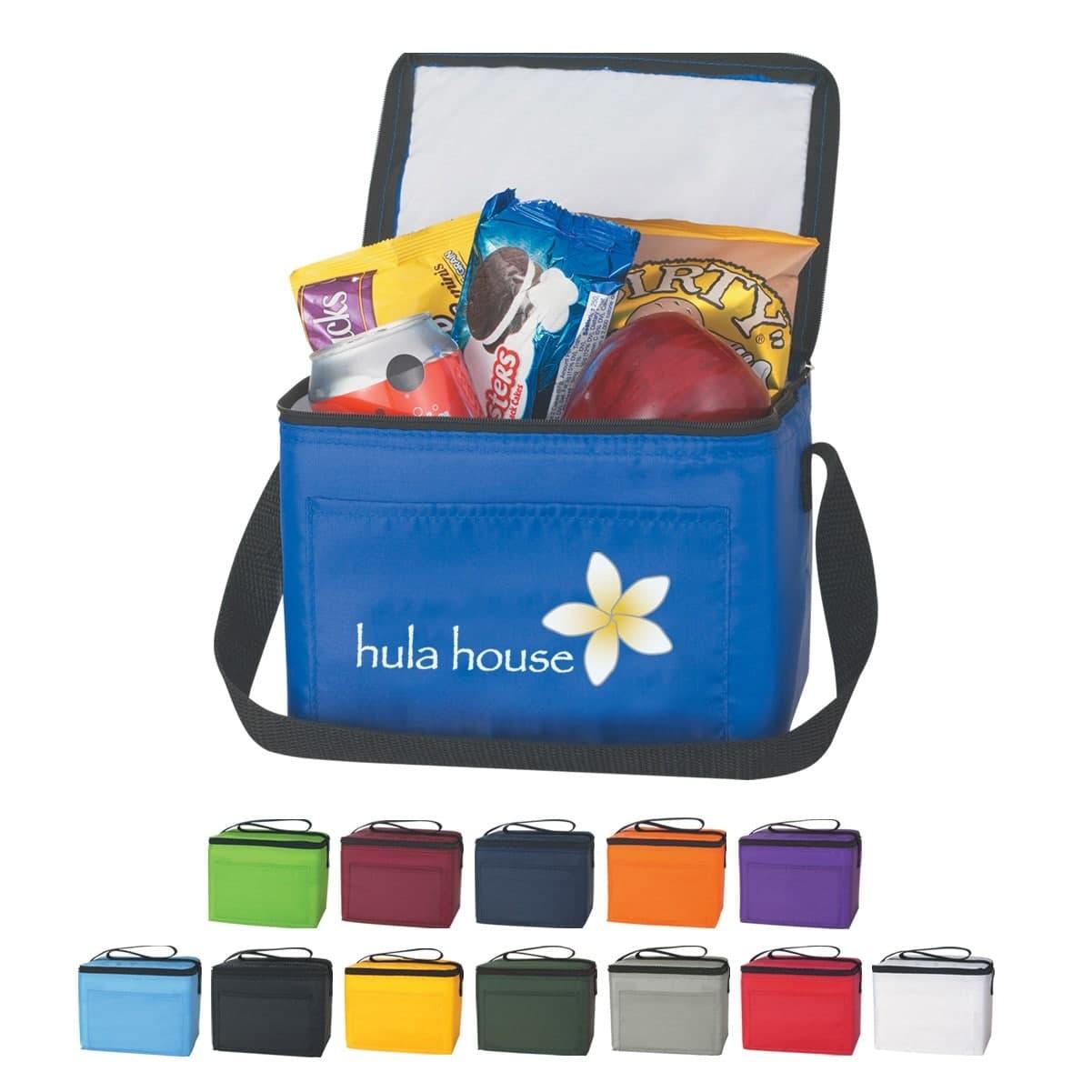 custom printed 6-pack lunch bag cooler