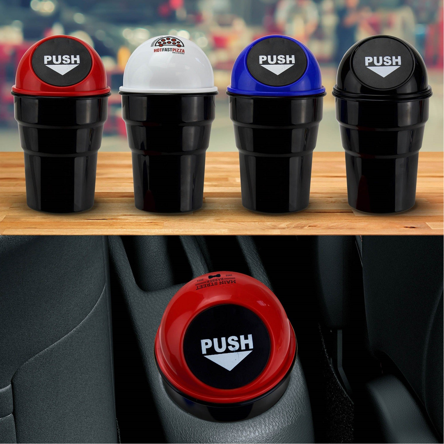 mini trash can for car cupholder