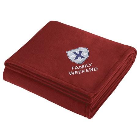 custom logo fleece sherpa blanket