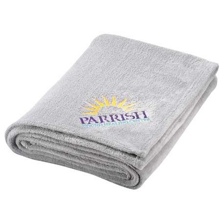 custom logo micro fleece blanket