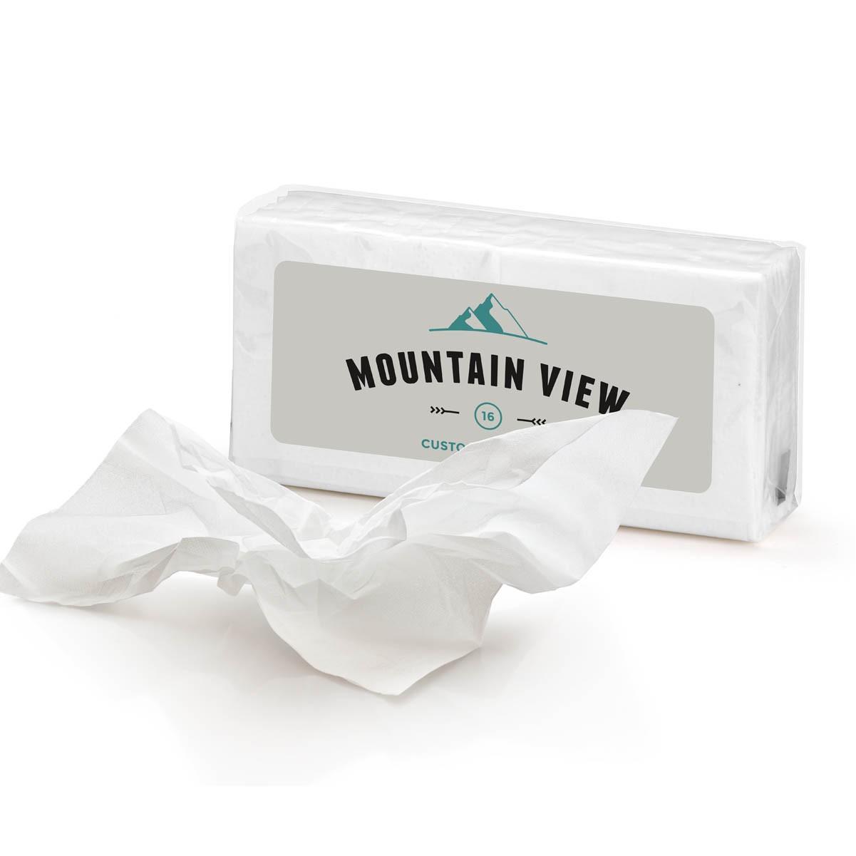 Custom logo pocket sized tissues