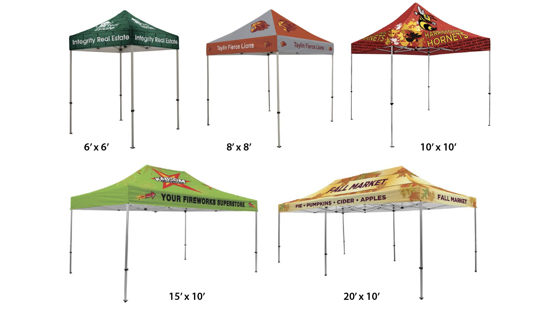 custom-printed-tent-sizes  sc 1 st  Expo Branders : tents sizes - memphite.com