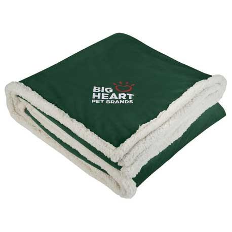custom logo sherpa blanket