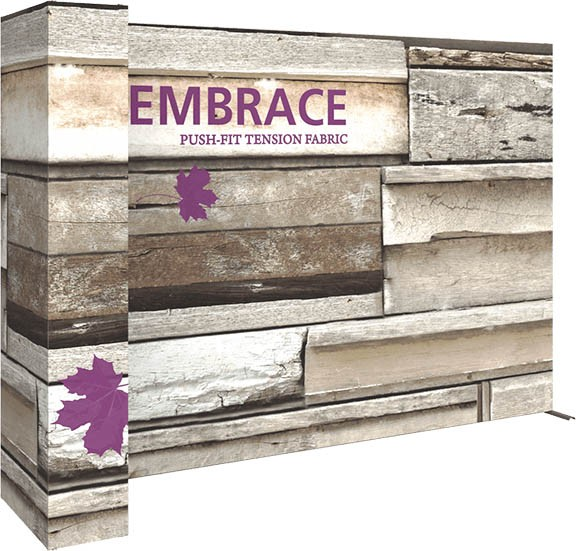 L shape- embrace- back wall- customize- local- VA- eXpobranders