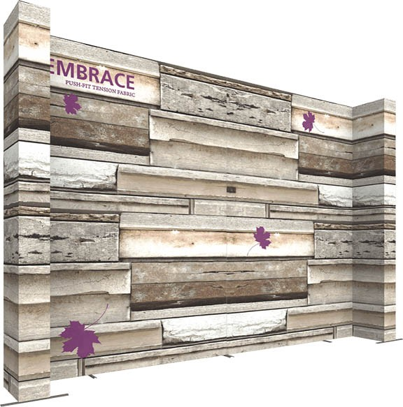 embrace- back wall- custom build- customize- eXpobranders- back wall- local- VA