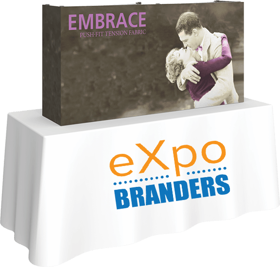 embrace- table top- banner- banner stand- eXpobranders- local- VA