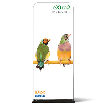 two side- double sided- eXtra- banner- banner stand- eXpobranders- VA