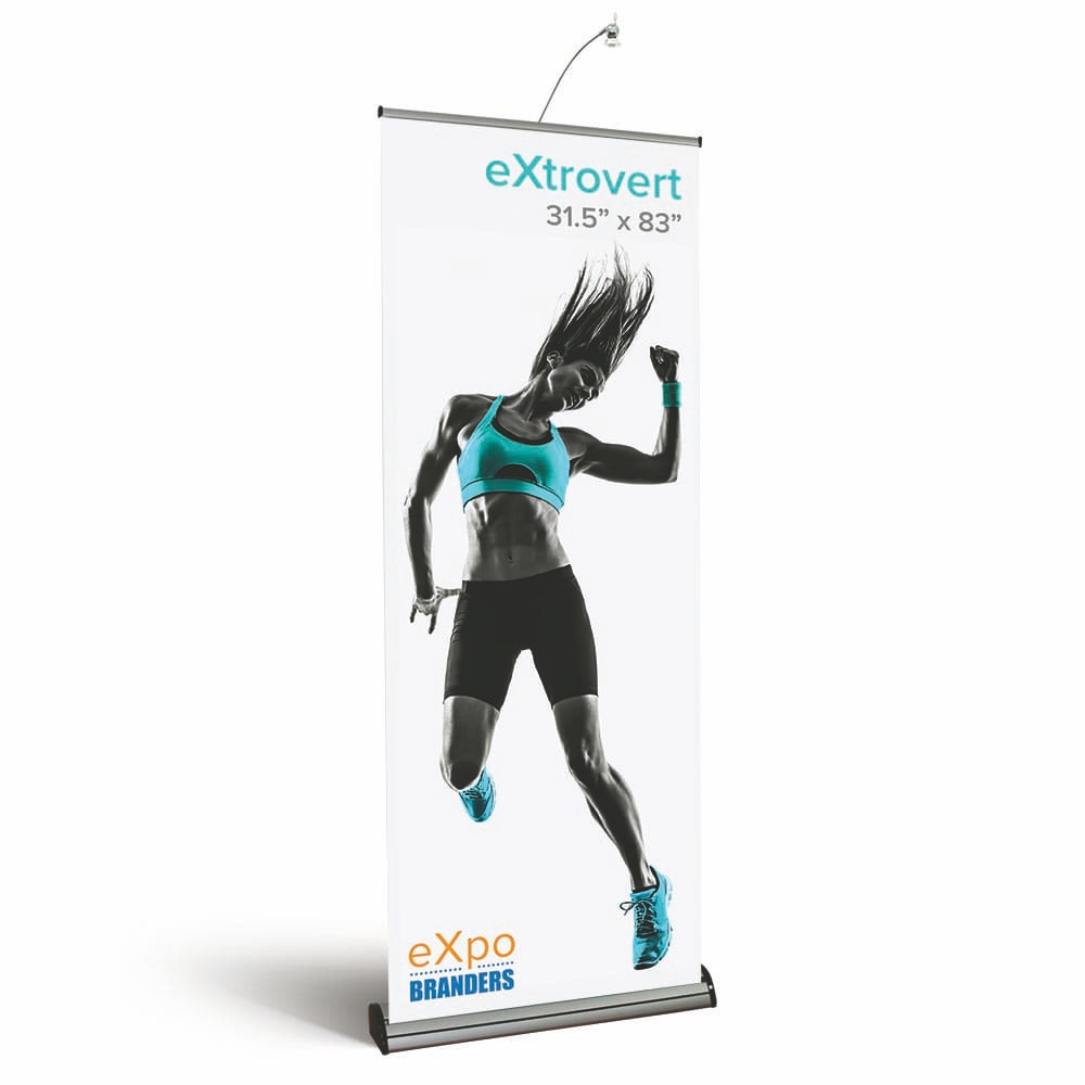 two side- double sided- banner- banner stand- eXpobranders- VA