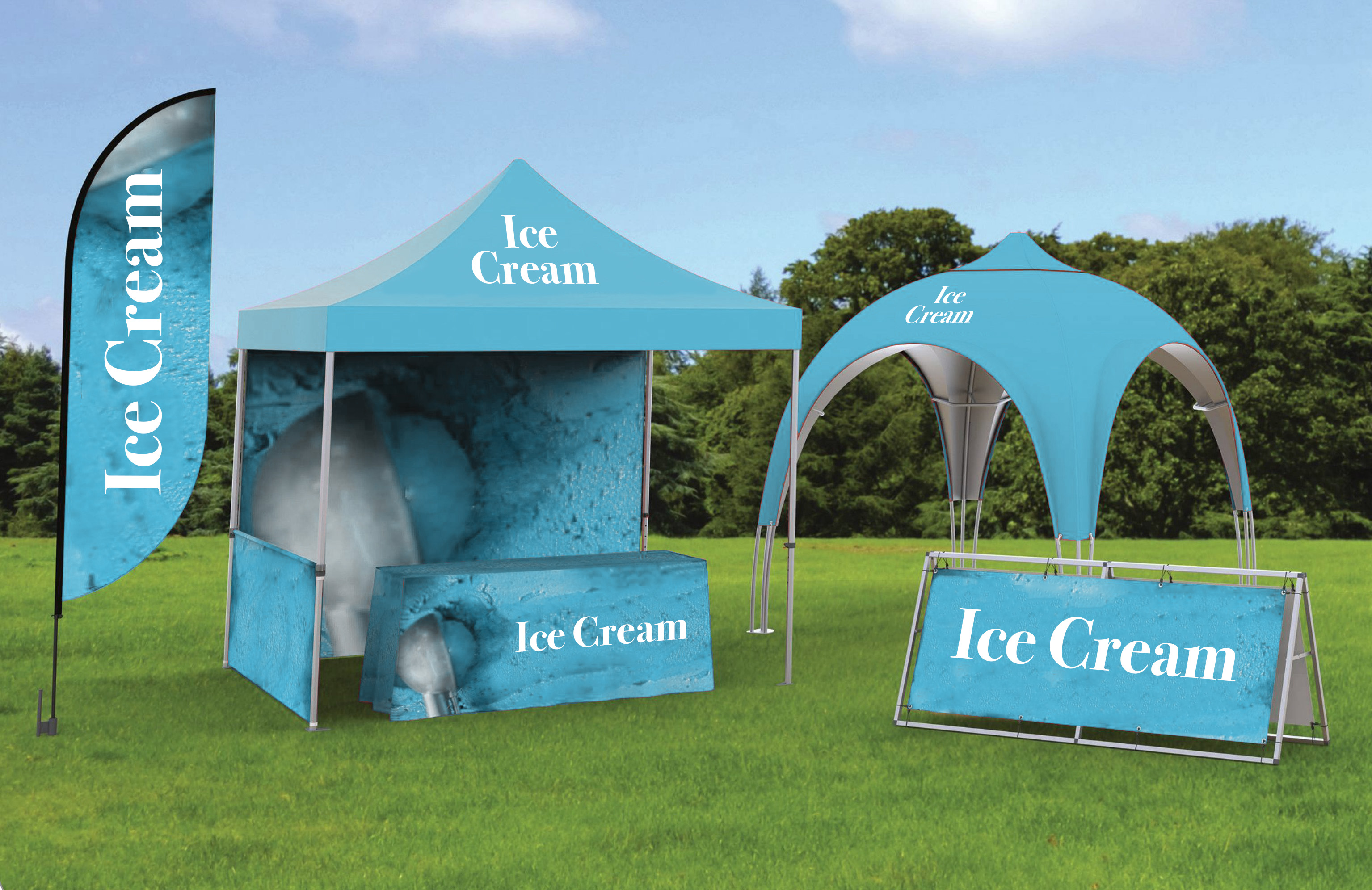 Outdoor Tents- Tables- Banners- Flags