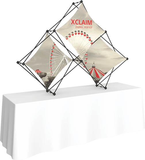 Xclaim- fabric- pop up- display- trade show- local- VA- eXpobranders