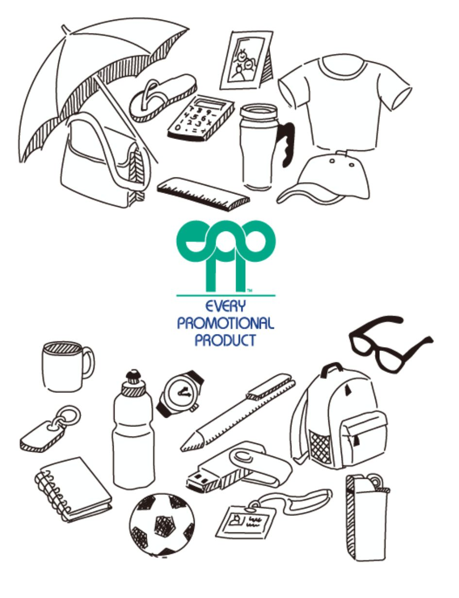 promo product line drawings with epp logo