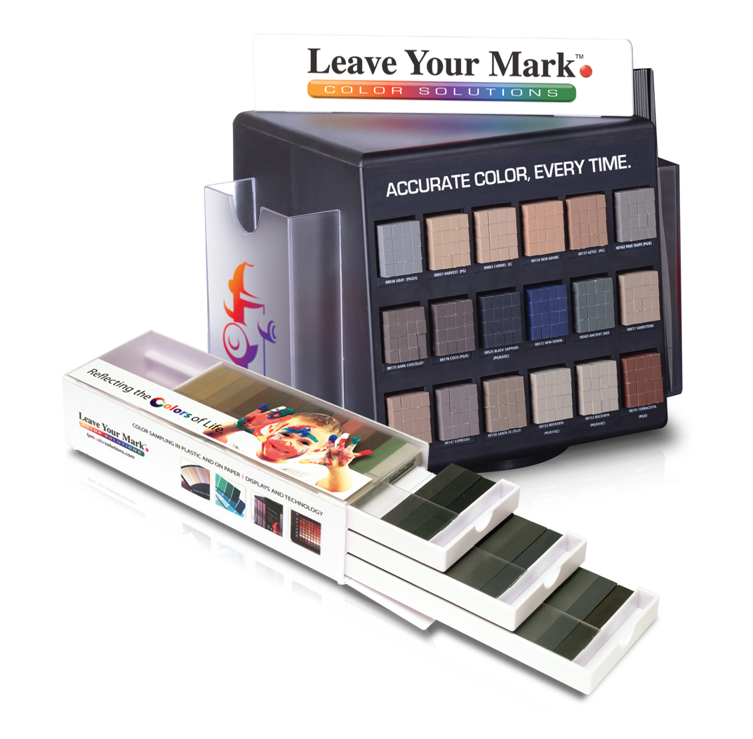 small retail displays, color sample displays and grout color displays