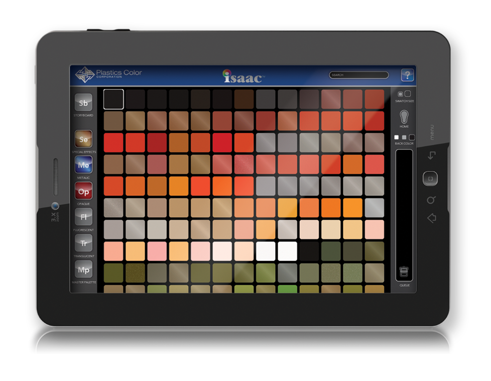 virtual color samples, interactive color samples and swatches