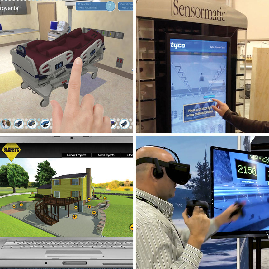 3D modeling, virtual reality VR and augmented reality AR