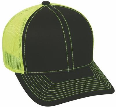 6 Panel Premium Cotton Twill Mesh Back Cap