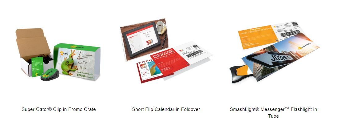 easy mailer with promotional product medium