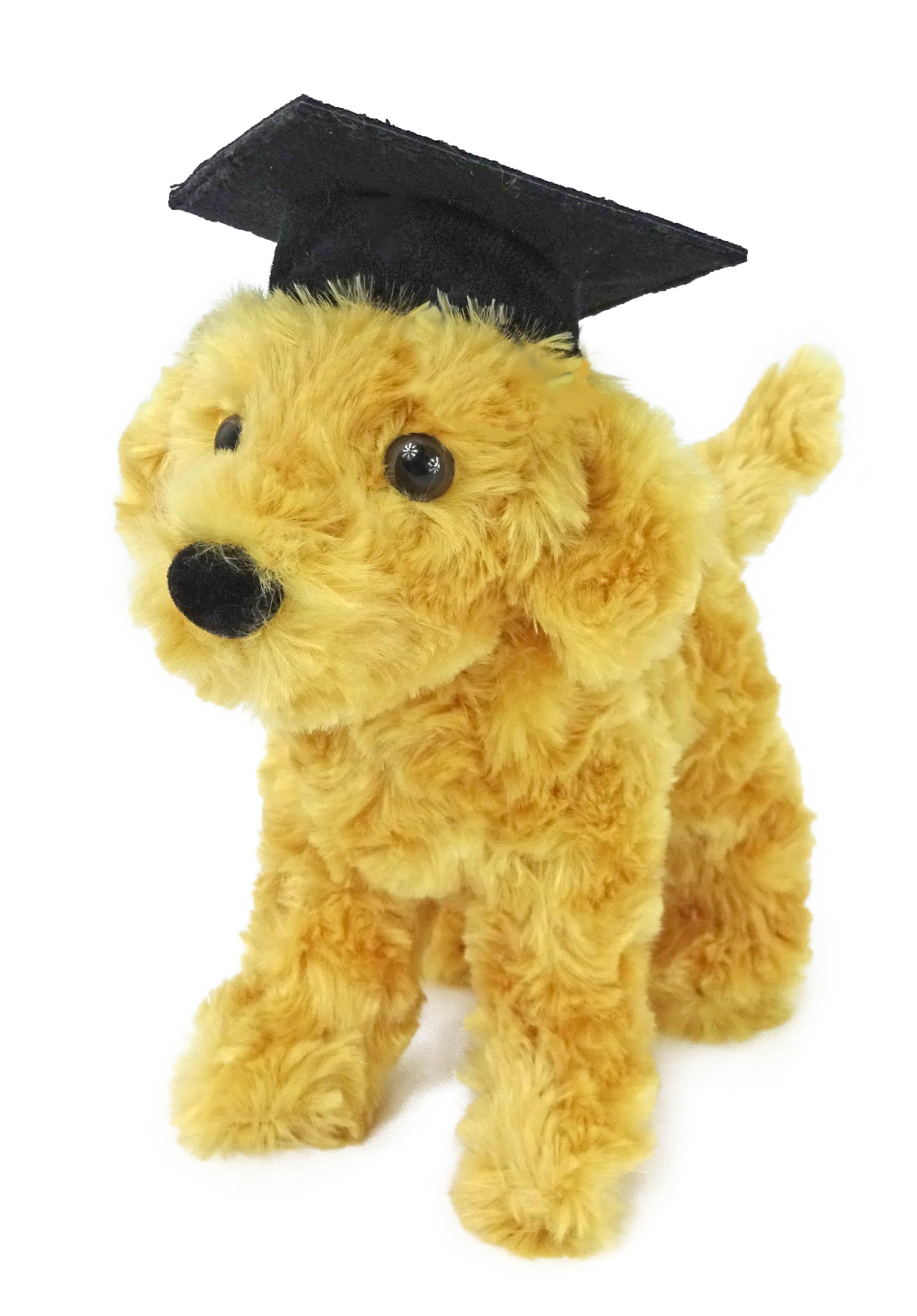 Graduation Caps for small plush promotional DOUGLAS toy animals.