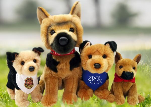 Custom Plush German Shepherd K9 Police Stuffed Animal Toys