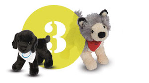 Plush customization ordering step 3 Choose accessory color Douglas toy animals.