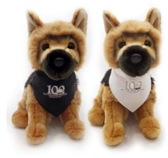 General German Shepherd K-9 police and rescue dog custom plush