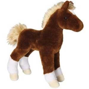 Teak Chestnut Foal horse promotional plush toy. Great to promote racetracks, classic car brand anniversaries.