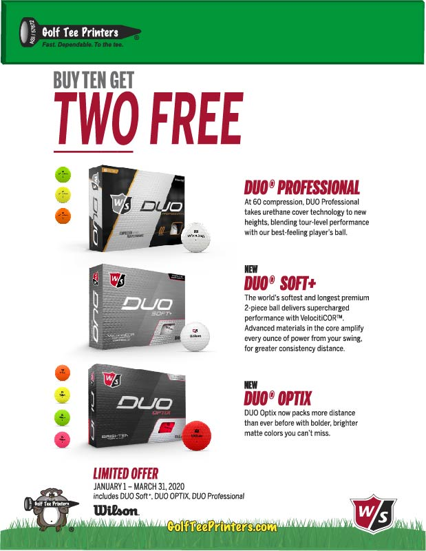 Wilson Duo Golf Ball Promotion