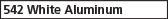 542 White Aluminum