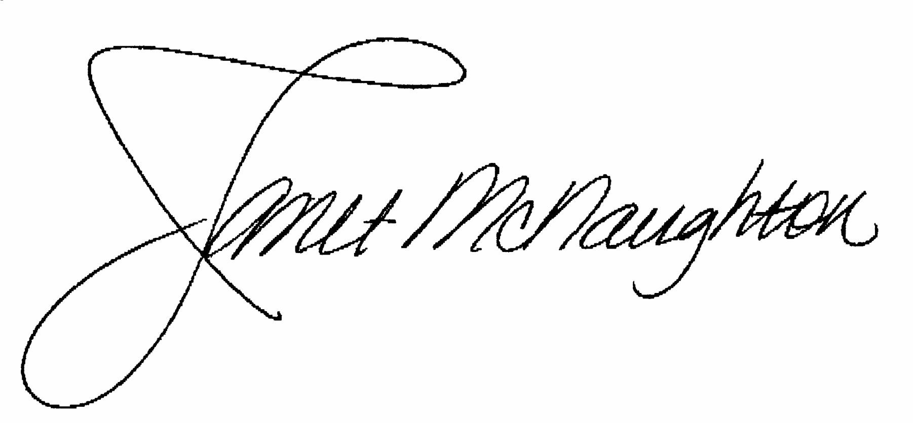 Janet's McNaughton Signature