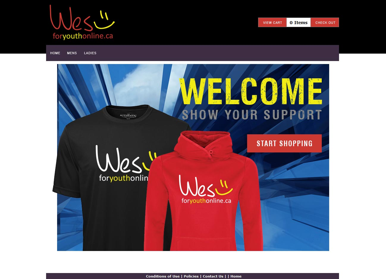 Wes For Youth eStore, Example of Personalization