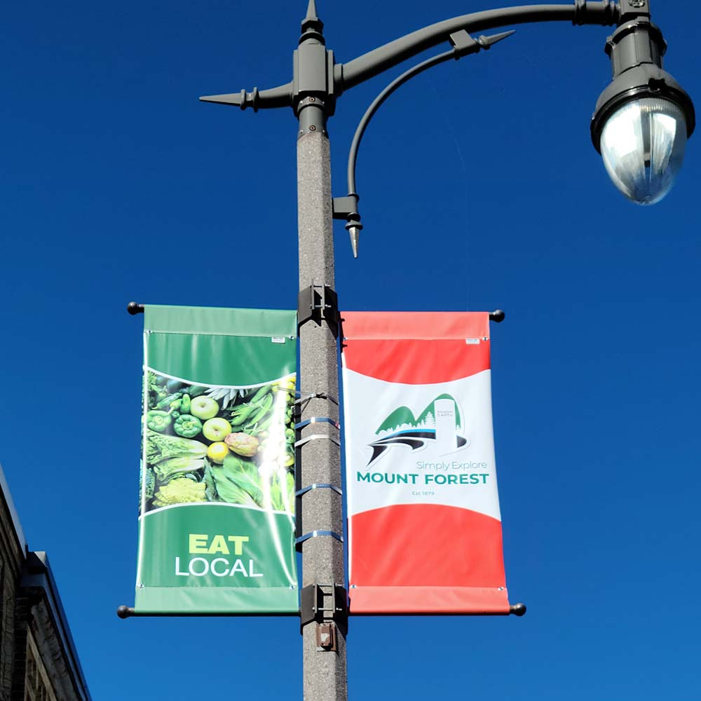 Downtown Banners for Lamp Posts