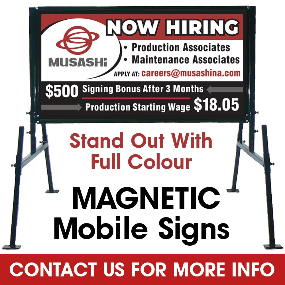 Magnetic Mobile Sign