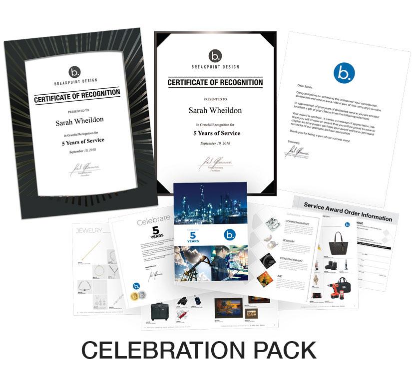 Celebration Flat Pack - STARS Service Awards